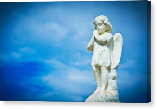 Old Christ Church Canvas Print - Angel by Aged Pixel