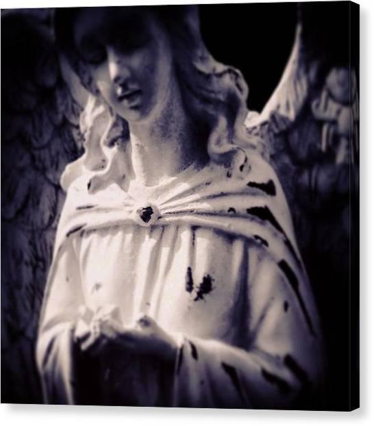 Old Age Canvas Print - #angel #angels #august #memorial by Kerri Ann Crau
