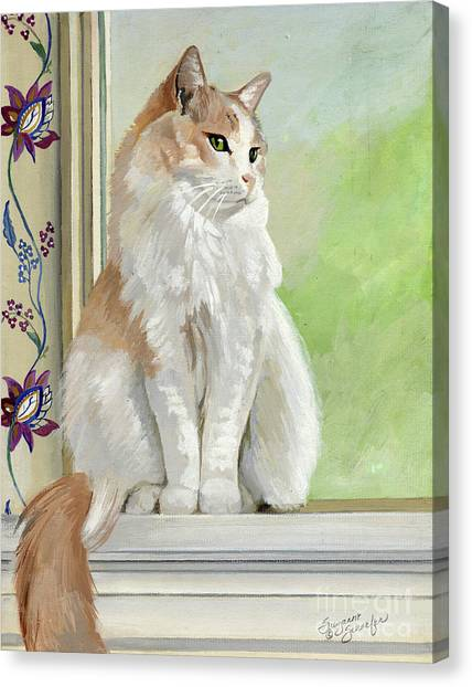 Angel Daydreams Canvas Print by Suzanne Schaefer
