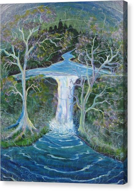 Angel Falls Canvas Print - Angel Falls by Beckie J Neff