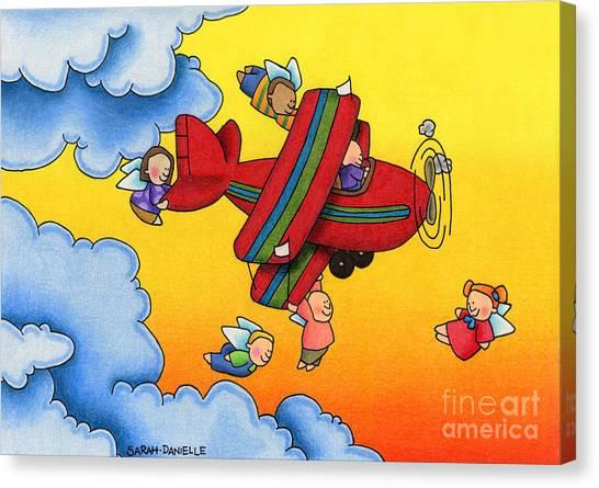 Seraphim Angel Canvas Print - Angel Flight by Sarah Batalka