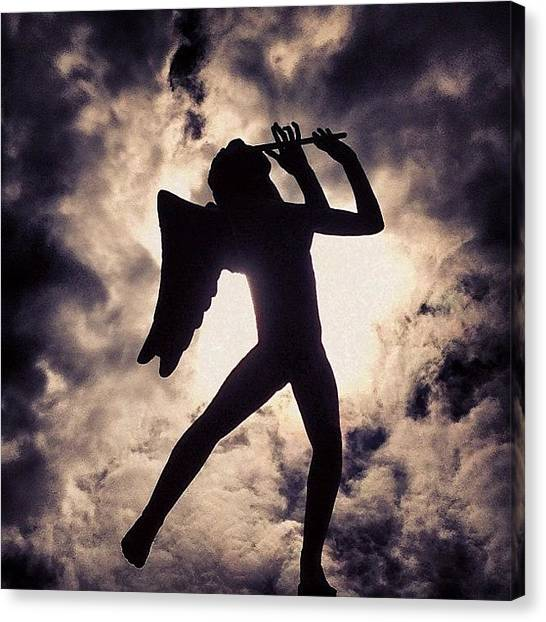 Flutes Canvas Print - #angel #flute #heaven #music #guardian by Mark Koenig