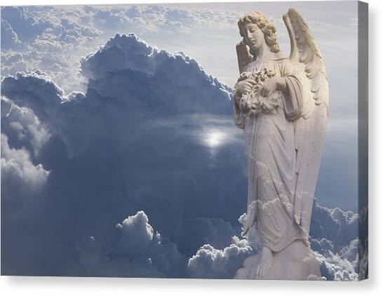 Angel In The Clouds Canvas Print by Jim Zuckerman