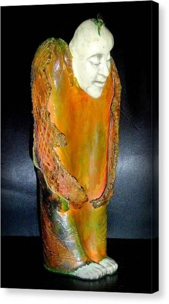 Angel In Waiting Canvas Print by Satya Winkelman