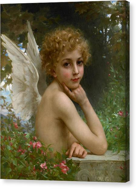 Cupid Canvas Print - Angel by Jules Cyrille Cave