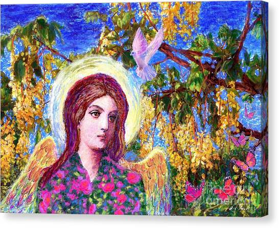 Xmas Canvas Print - Angel Love by Jane Small
