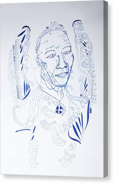 Gloria Canvas Print - Angel Madiba -  Nelson Mandela by Gloria Ssali