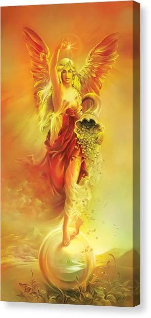 Angel Of Abundance - Fortuna Canvas Print