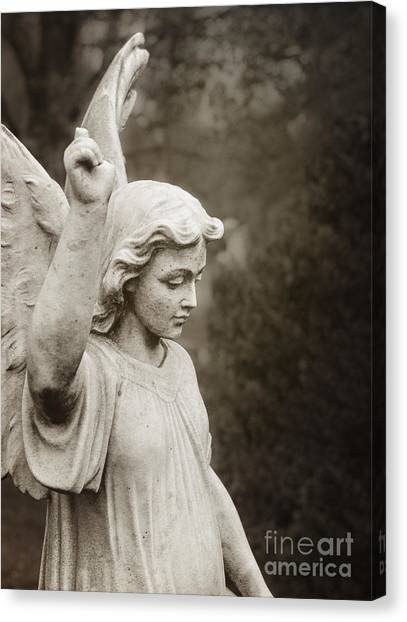 Angel Of Comfort Canvas Print