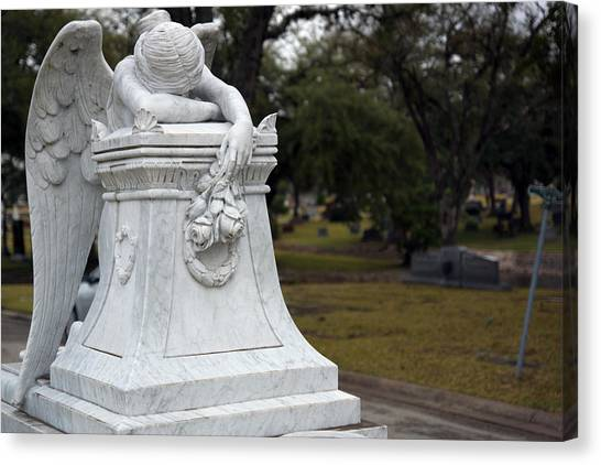 Angel Of Grief Houston 3 Canvas Print
