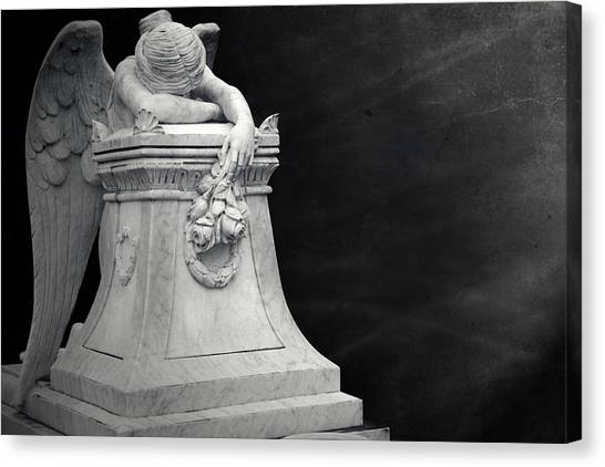 Angel Of Grief Houston 4 Canvas Print