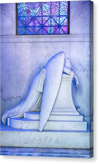 Angel Of Grief New Orleans 2 Canvas Print