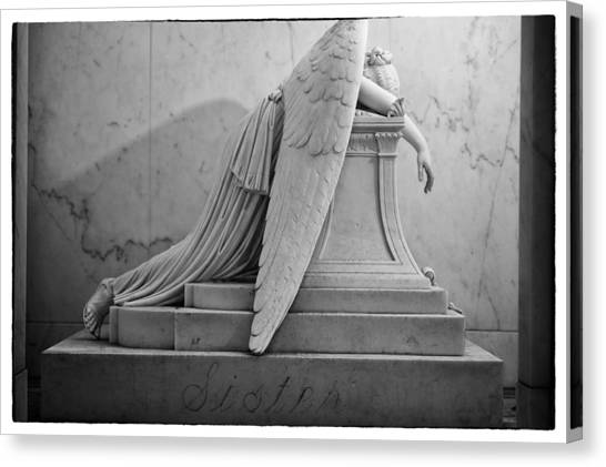 Angel Of Grief New Orleans 6 Canvas Print