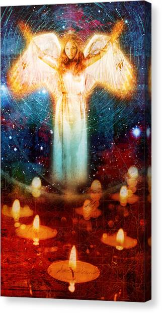 Canvas Print - Angel Of Light  by Mark Preston