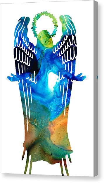 Mercy Canvas Print - Angel Of Light - Spiritual Art Painting by Sharon Cummings