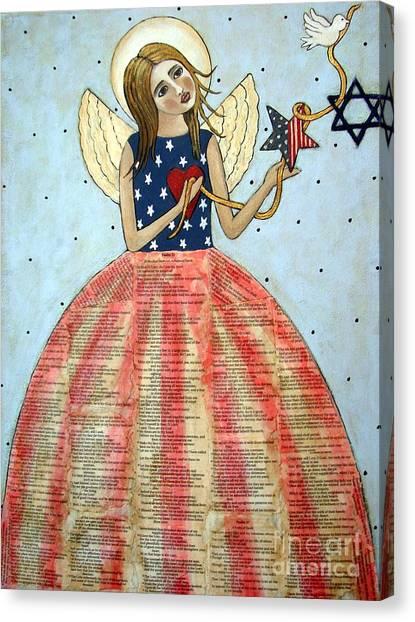 Jewish Painter Canvas Print - Angel Of Peace by Stewalynn Art