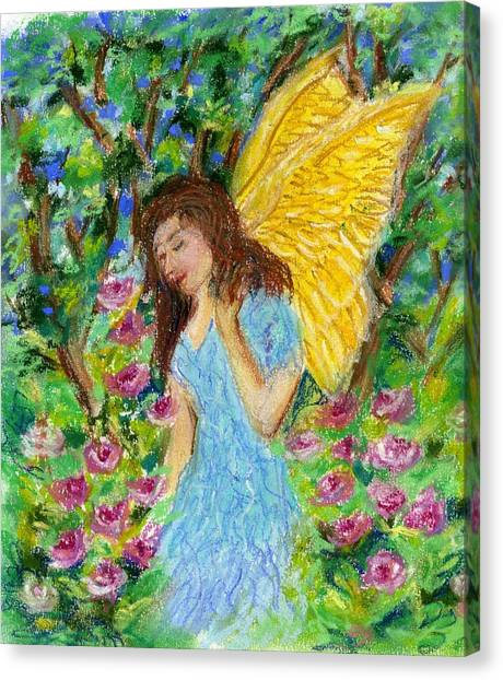Angel Of The Garden Canvas Print