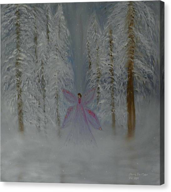 Angel Of Winters Past Canvas Print