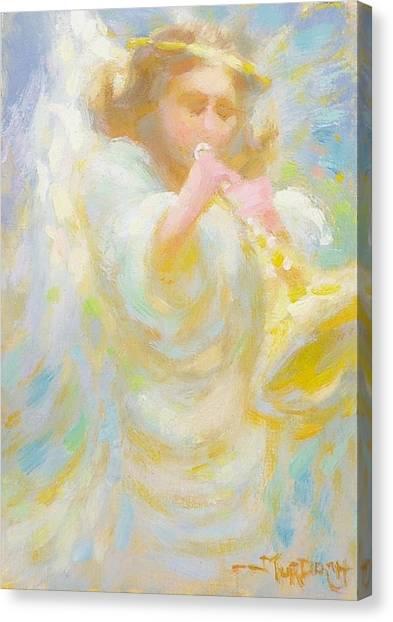 Angel Playing Lovesong Canvas Print by John Murdoch
