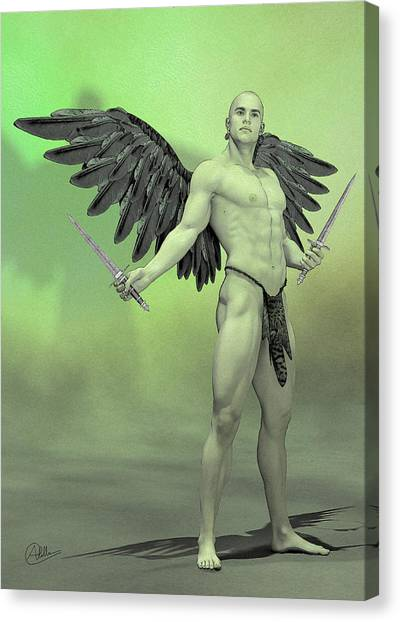 Atheism Canvas Print - Angel Ripper by Quim Abella
