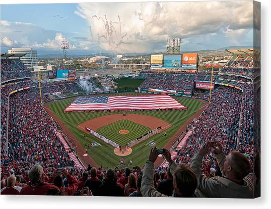 Los Angeles Angels Canvas Print - Angel Stadium Of Anaheim by Mark Whitt