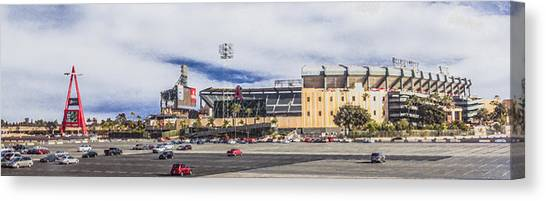 Los Angeles Angels Canvas Print - Angel Stadium Of Anaheim by Photographic Art by Russel Ray Photos