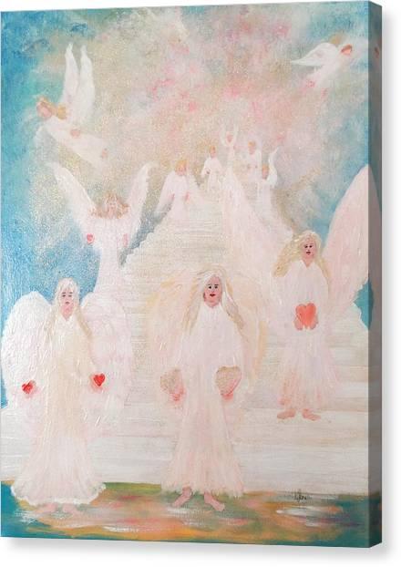 Angel Stairway Canvas Print