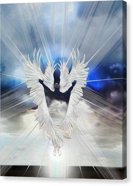Angel Storm Canvas Print by Ron Cantrell
