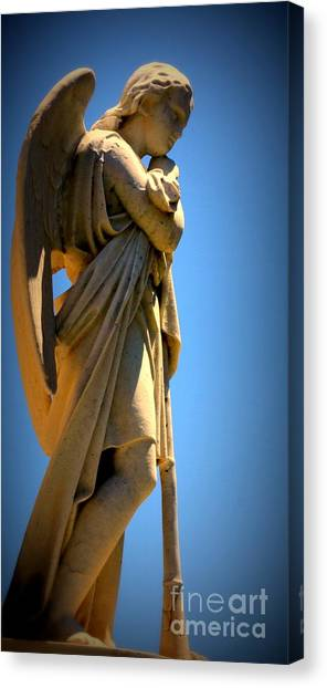 Angel Watching Canvas Print