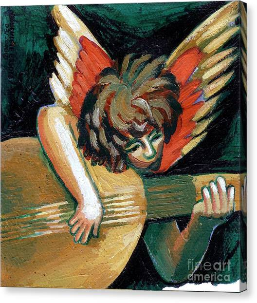 Angel With Lute Canvas Print