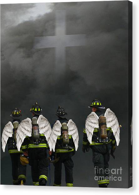 Angelic Heroes Canvas Print