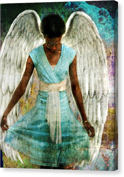Angelic Thanks Canvas Print