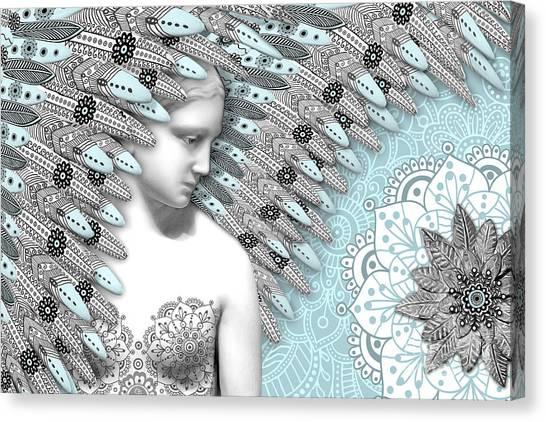 Angelica Hiberna - Angel Of Winter Canvas Print