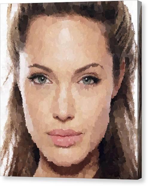 Angelina Jolie Portrait Canvas Print