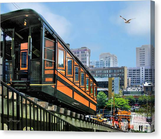 Los Angeles Angels Canvas Print - Angels Flight.la by Jennie Breeze
