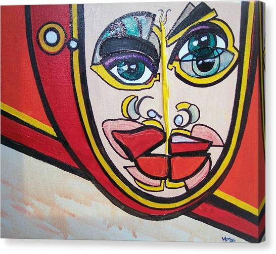 Angel's Giggle Canvas Print by Valerie Wolf
