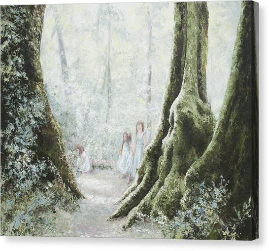 Angels In The Mist Canvas Print