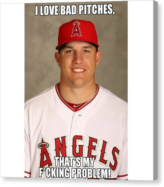 Trout Canvas Print - #angels #losdoyerschupan #trout by Jp Preciado
