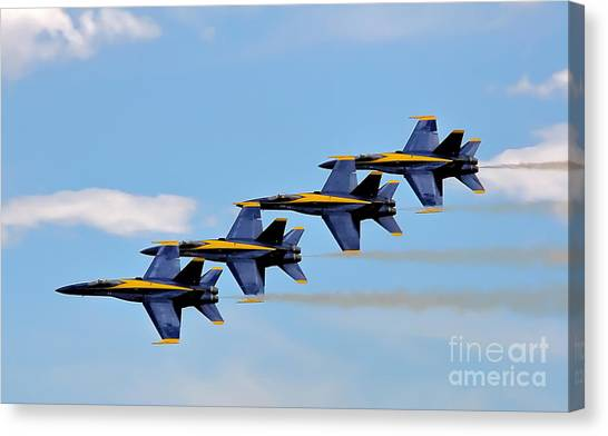 Angels Of The Sky Canvas Print