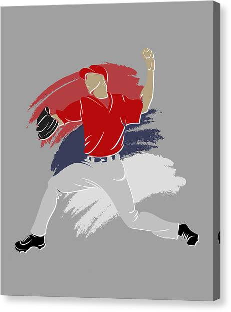 Los Angeles Angels Canvas Print - Angels Shadow Player by Joe Hamilton