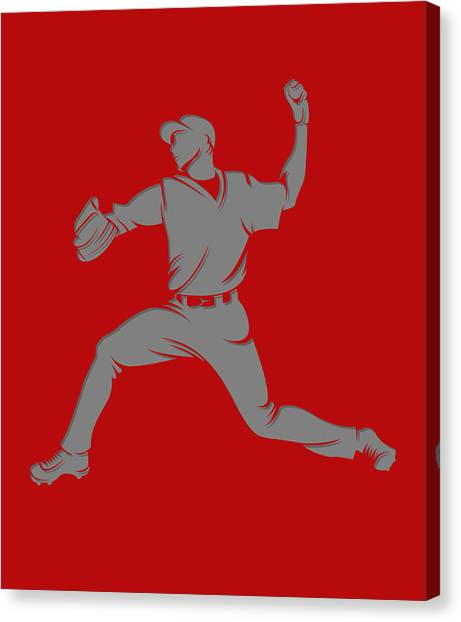 Los Angeles Angels Canvas Print - Angels Shadow Player1 by Joe Hamilton