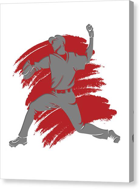 Los Angeles Angels Canvas Print - Angels Shadow Player2 by Joe Hamilton