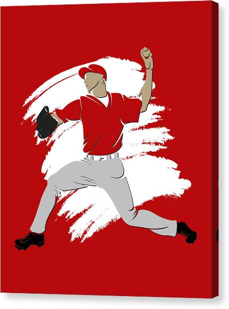 Los Angeles Angels Canvas Print - Angels Shadow Player3 by Joe Hamilton