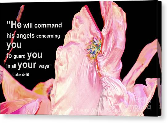 Angels Will Guard You Canvas Print by Artist and Photographer Laura Wrede
