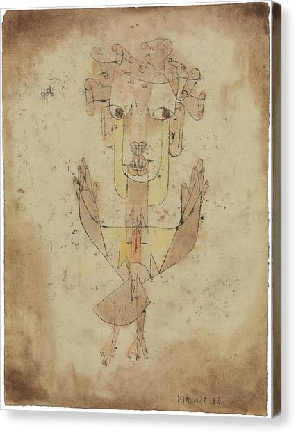 Canvas Print featuring the painting Angelus Novus by Paul Klee