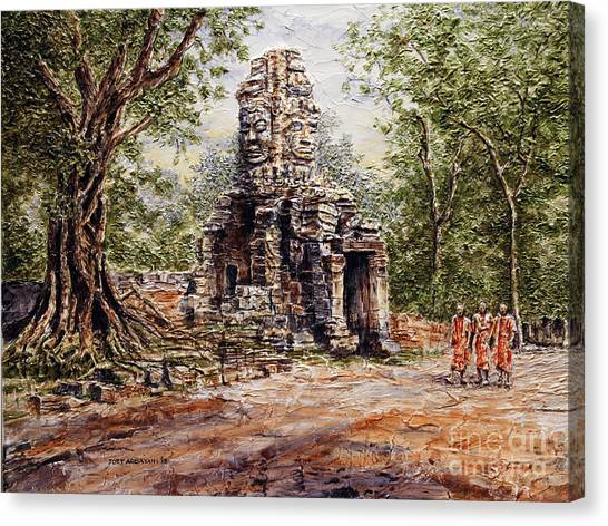Angkor Temple Gate Canvas Print