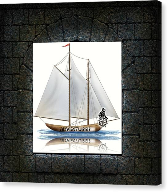 Angle Of View Canvas Print by Museum Quality Prints -  Trademark Art Designs