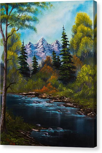 Bob Ross Canvas Print - Fisherman's Retreat by Chris Steele