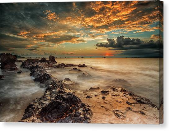 Shore Canvas Print - Angry Beach by Gunarto Song