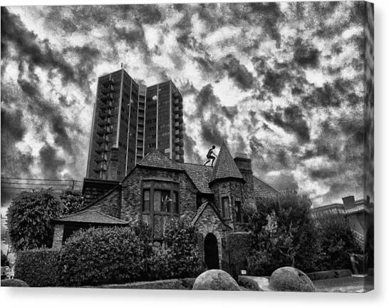 Angry House Canvas Print